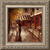 Romantic Stroll Framed Art Print