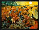 The Red Vineyard at Arles, c.1888 Framed Art Print