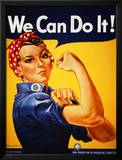 We Can Do It! (Rosie the Riveter) Framed Art Print