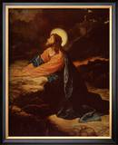 Christ in Gethsemane Framed Art Print