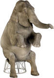 Asian Elephant Lifesize Standup Stand Up