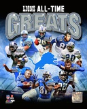 Detroit Lions All Time Greats Composite