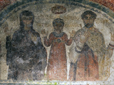 The Earliest Representation of San Gennaro (St Januarius), Catacombs of San Gennaro, Naples, Italy