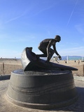 Tim Kelly Lifeguard Memorial Sculpture, Hermosa Beach, Los Angeles, California, USA, North America