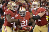 NFL Playoffs 2013: Packers vs 49ers - Frank Gore, Vernon Davis, and Joe Staley