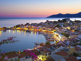 Harbour at Dusk, Pythagorion, Samos, Aegean Islands, Greece Photographic Print