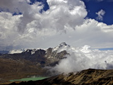 Mount Huayna Potosi Viewed from Mount Chacaltaya, Calahuyo, Cordillera Real, Bolivia, Andes