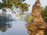 Naga Head Statues at Angkor Thom Temple Complex, UNESCO World Heritage Site, Siem Reap, Cambodia