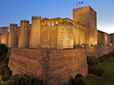 Walls and Towers of Aljaferia Palace, from 11th Century, Saragossa (Zaragoza), Aragon, Spain