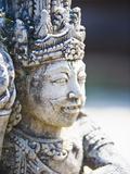 Close-Up of Stone Statue, Pura Tirta Empul Hindu Temple, Bali, Indonesia, Southeast Asia, Asia