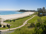 Coolangatta Beach and Town Panoramic, Gold Coast, Queensland, Australia, Pacifc