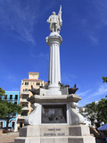 Christopher Columbus Statue, Plaza Colon, Old San Juan, San Juan, Puerto Rico, West Indies, USA