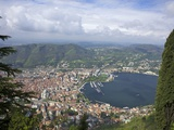 Buy View of the City of Como from Brunate, Lake Como, Lombardy, Italian Lakes, Italy, Europe at AllPosters.com