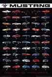 Ford Mustang Evolution Car Poster