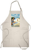 Key West, Florida - Beach Scene Apron