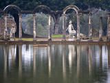 Reflecting Pool in Hadrian's Villa, Tivoli, Lazio, Italy