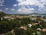 Cityscape Viewed from Liberation Road, Victoria, Mahe Island, Seychelles