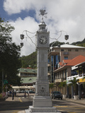 Clock Tower in a City, Victoria, Mahe Island, Seychelles