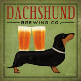 Dachshund Brewing Co. Art Print
