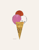 Ice Cream Dessert, c. 1959 (red, pink, and white) Art Print