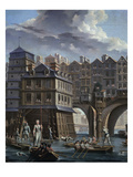 Sailors Jousting, Between the Pont Notre Dame and the Pont-Au-Change, Paris, 1756