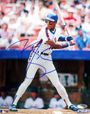 Darryl Strawberry NY Mets Pinstripes Batting Vertical