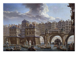 Sailors Jousting, Between the Pont Notre Dame and the Pont-Au-Change, Paris, 1756, Oil on Canvas