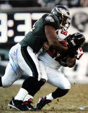 Jeremiah Trotter Tackle Vs. Falcons Autographed Photo (Hand Signed Collectable)
