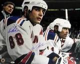 Lindros/Messier Rangers Home Bench Dual Signed Autographed Photo (Hand Signed Collectable)