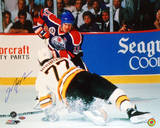Mark Messier Oilers vs Ray Bourque Autographed Photo (Hand Signed Collectable)