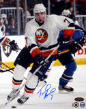 Trent Hunter Islanders Vs. THome Runashers Autographed Photo (Hand Signed Collectable)