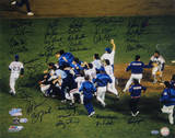 NY Mets 1986 Team Signed Team Celebration Autographed Photo (Hand Signed Collectable)