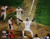 NY Mets 1986 Team Signed Howard Johnson at Home Plate Autographed Photo (Hand Signed Collectable)