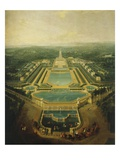 Perspective View of the Palace and Gardens of Marly, France, 1724 (Mv 762)
