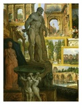 The Farnese Hercules, Gallery of Views and Vases of Ancient Rome, 1758