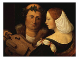 Court Poet and Young Woman, Early 16th Century