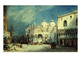 Saint Mark's Square, Venice, Italy, Watercolour (Theatrical Backdrop Design)