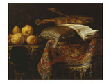 Still Life with Citrons and Violin, Undated