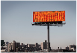 Gratitude Billboard in NYC