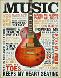 Buy Music Inspires Me Distressed Retro Vintage Tin Sign at AllPosters.com
