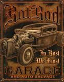 Rat Rod Garage Distressed Retro Vintage Tin Sign Tin Sign