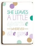 She leaves a little sparkle-color