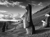 Buy A Path Winds Past Moai Spread across Rolling Hills at AllPosters.com