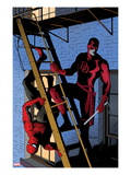 Daredevil No.8 Cover: Daredevil and Spider-Man on the Fire Escape