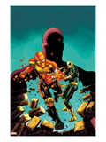 Shadowland: Power Man No.1 Cover: Power Man, Iron Fist, and Daredevil Running
