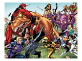 Avengers Academy #25: Hawkeye, X-23, Mettle, Giant Man, Reptil, Hazmat, Tigra, and Others Fighting