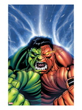 Hulk No.30 Cover: Hulk and Rulk Screaming