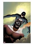 Shadowland No.4 Cover: Bullseye and Daredevil Flying
