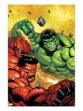 Hulk No.29 Cover: Hulk and Rulk Fighting