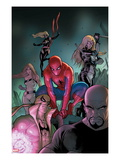 The Amazing Spider-Man No.653 Cover: Spider-Man, Luke Cage, Iron Fist, Ms. Marvel and Others